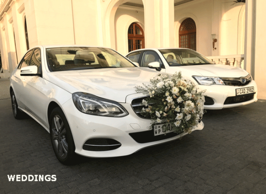 Hire luxury modern wedding cars from lespri rent a car sri lanka