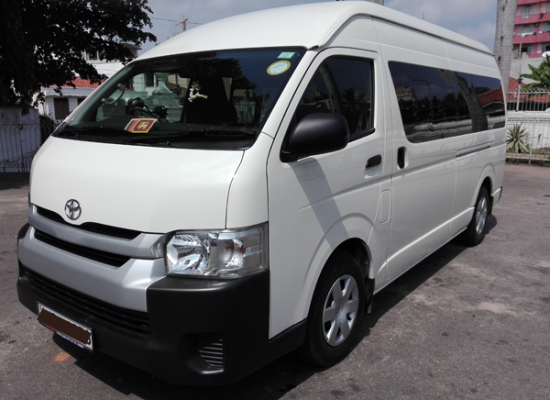 rent a van 15 seater toyota hi ace lespri car rentals colombo sri lanka