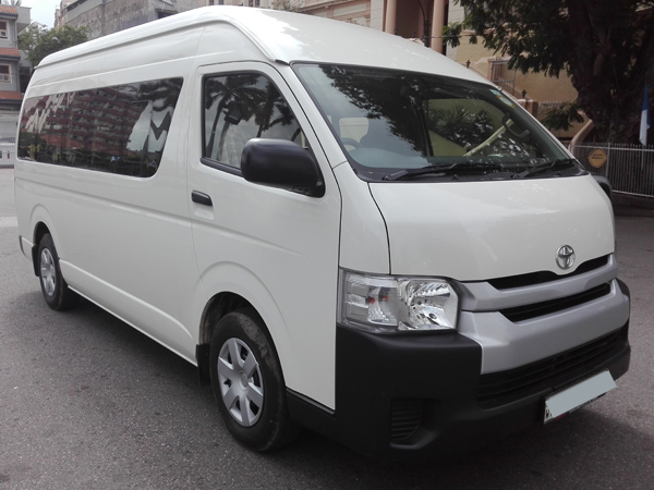 Toyota hiace on rent by Lespri car rentals sri lanka