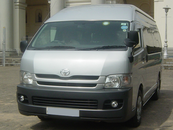 on hire by lespri car rentals sri lanka van KDH