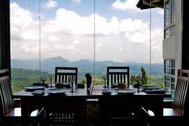 enjoy the mountain view restaurant at club lespri
